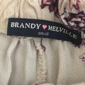 Brandy Melville Shorts - Brandy Melville flowy floral shorts